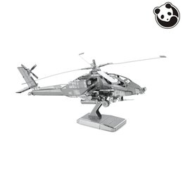 Wholesale Panda model PLANES D Metal Model Puzzles AH APACHE Chinese Metal Earth Stainless Steel Military Series Creative Gifts ICONX