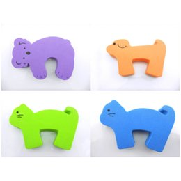 EVA Baby Finger Pinch Guard Baby Door Slam Stopper Children Safety Cartoon Animal Foam Door Stopper 4pcs