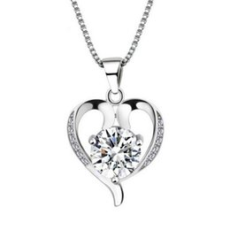 925 sterling silver jewelry fashion women lovely beautiful pendant necklace Korean jewelry wholesale item