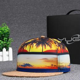 Brands 3D Color Printing Coconut trees pattern Men Women Sports Hat Hats Baseball Cap Fashion trends Hip Hop Snapback Caps