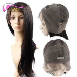 Wholesale Cheap Straight Full Lace Wig Straight Human Hair Extensions Human Hair Wig XBL DHL