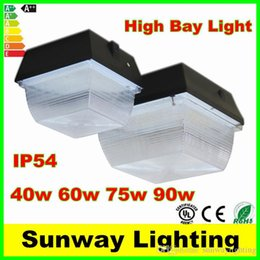 Wholesale 40W W W W High Bay parking lighting led canopy lights SMD Led Floodlights Cold White Mean Well Driver CE DLC TUV UL