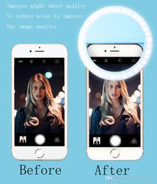 2017 anillo de luz led de la cámara Clip-on led selfie anillo luz círculo forma redonda selfie llevado proyector de luz de flash para cámara móvil ipad ipod descuento anillo de luz led de la cámara