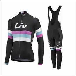 2016 black LIV Cycling Jerseys Set Women autumn Long Sleeve Bicycle Clothing and (none) bib pants Comfortable Cycling Kits