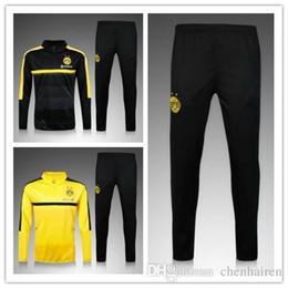 Wholesale 3A best quality football uniforms chandal Dortmund soccer sportswear training suit pants sportswear best quality