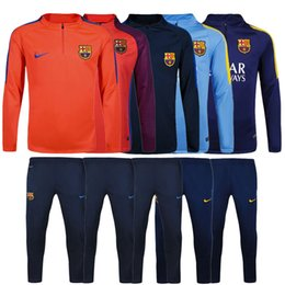 Wholesale Top quality jerseys Barcelona Football Training suit long sleeve soccer Soccer tracksuit Sets whit pants ET