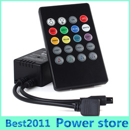 Wholesale Music controller Audio sound sensitive for LED RGB Strip with keys IR remote for led ribbion DC12v A Black
