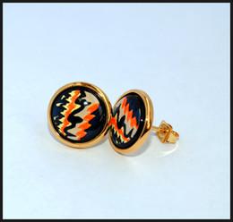 Rose Series 18K gold-plated enamel earrings for women Top quality stud earrings
