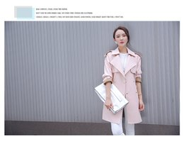 Long double breasted the commute in the fall of 2016 new Korean fashion coat women's coat