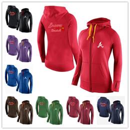 Wholesale cheap New Women s Hoodies Atlanta Braves Baseball Jackets Sportswear Jogging Fleece sweatshirt Mixed order