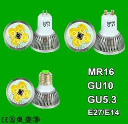 Wholesale Dimmable GU10 E27 MR16 E14 GU5 B22 W W W Led Lamp V V Spotlight Led Bulbs Warm Pure Cool CE UL