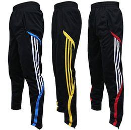 high quality football pants male sports pants closed leg pants feet pants riding pants running fitness training pants summer thin section
