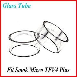 Wholesale Original Pyrex Glass Smok Micro TFV4 Plus Clear Glass Tube Replacement Glass Tube Bell Caps for Smok Micro TFV4 Plus Atomizer tank