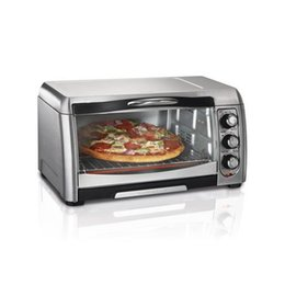 Wholesale 6 Slice Convection Toaste Toaster Oven Broiler Bake Oven Hamilton Beach Convection Stainless Steel Slice pizza Bake Dorm