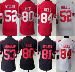 Wholesale 49ers Women Jerseys Colin Kaepernick Steve Young Vernon Davis NaVorro Bowman Jarryd Hayne Carlos Hyde Joe Montana Ladies
