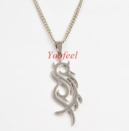 Wholesale-2016 new jewelry High quality new rock band slipknot band necklace free shipping