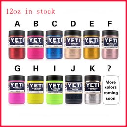 Wholesale 12 oz Stainless Steel Yeti Colster Tumbler can Yeti Coolers Rambler Colster YETI Cups Cars Beer Mug Insulated Koozie oz Yellow Green Blue
