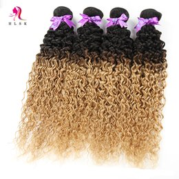 Wholesale 100 Virgin hair Products Ombre Kinly Curly Brown Sew Hair Wefts MALAYSIAN Hair Bundles Double Wefts Kinky Curl Brown Hair pack