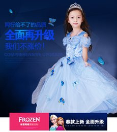 2016New Frozen dress costumes cosplay dress Princess Elsa party wear clothing for Halloween Saints'Day frozen Princess Cosplay dress & crown