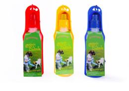 Wholesale Potable Pet Dog Cat Water Feeding Drink Bottle Dispenser Squeeze Water Bottle Colors ml WA0712