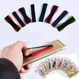 Wholesale Universal Handle Finger Grip Portable Lazy Holder Elastic One handed Operation for Mobile Phone iPhone6S Samsung Note Tablet Reader