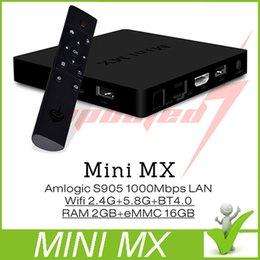 Wholesale Genuine Mini MX Amlogic S905 Quad Core Andorid TV BOX M LAN GB GB GHz Dual WiFi KOD