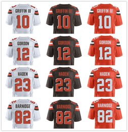 Wholesale NIK Elite Hot Men s Browns Football Jerseys GRIFFIN III Gordon HADEN austin BARNIDGE Johnny Manziel custom jersey