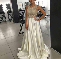 Glamorous 8th grade Prom Dresses Beaded Rhinestone Graduation Dress A-Line Beading Evening Gowns Satin Party Dress Women Formal Dresses