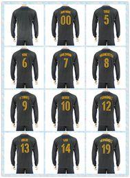 Wholesale Fast Uniforms Kit Soccer Jersey Atletico Madrid Oliver Koke Griezmann KRANEVITTER Away Black Long Sleeve Jerseys