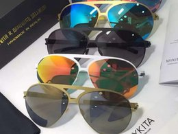 Wholesale 2016 MYKITA SEPP GODEN ROSEGOLD FLASH MIRROR BERNHARD WILHELM SUNGLASSES Brand New with box