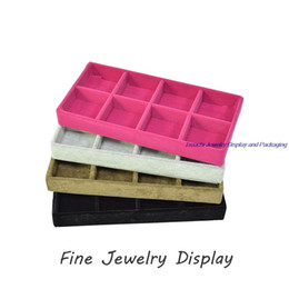 Fashion Retail Small Portable Jewelry Store Display Case Velvet Exhibitor Earrings Organizer Jewelry Storage Container Beads Box 11*22CM
