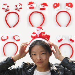 Wholesale Hairpin With Bright Light For Girls Dressing UP Christmas Decoration Party Costume Xmas Santa Clause Headband Product Code