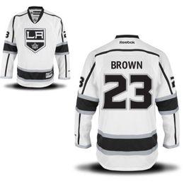 2017 les brunes Maillot Hommes de Los Angeles Kings Gold 23 Dustin Brown 24 Hommes Derek Forbort Maillots de Hockey, Nom et Numéro Tous les Logos Couture les brunes à vendre
