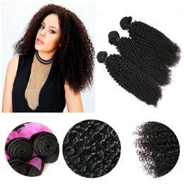 Mix Same Length 3pcs 9A Peruvian Virgin Human Weave Hair Weft Kinky Curly Natural Color Brown Color Derun Premier Hair Extension