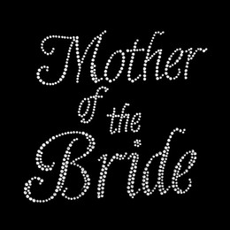 Best Mother of the Bride Rhinestone Motif Transfer Design, 300 pcs Iron On Rhinestone Transfer