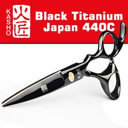 Wholesale 2016 Kasho Titanium Hairdresser s Scissors Japan C Professional Hairdressing Scissors For Cutting Hair Shears Set for Barber Shop