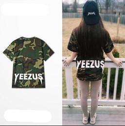 Wholesale Buy Unisex Camo Tee Shirt Round Neck Kanye West Yeezus Tour Camouflage T Shirts For Sale