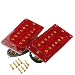 Red Pearl shell Neck&Bridge Humbucker Double Coil Pickup Set for LP SG Guitar