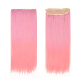 """Hot Selling Two Tone Ombre Hair 24"""" 60cm 110g #F4 Color Ombre Hair Extentions Free Shipping Clip In Hiar Extentions Ombre Synthetic Hair"""