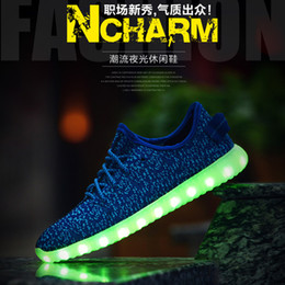 Wholesale Top LED Shoes light colorful Flashing Shoes with USB Charge Unisex Fluorescent Couple Shoes For Party and Sport Casual Shoes forcity Sales