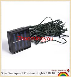YON Solar Waterproof Christmas Lights 33ft 10m 50 LED Solar Fairy String Lights For Outdoor Christmas Party Decoration Lamp