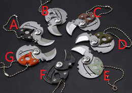 Wholesale Survival Tech - retail 1pcs Panchenko Coin Claw Folder Knife Satin Tumbled Mid-Tech Slip Joint Neck Keychain Knife Tactical Survival EDC Knife Retail box