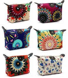 Wholesale New women Retro MakeUp Pouch Cosmetic Make Up Bag Clutch Hanging Toiletries Travel Kit Jewelry Organizer Casual Purse