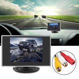 Lcd moniteur d'affichage vidéo en Ligne-3,5 pouces 320 x 234 Moniteur de vue arrière de voiture à écran tactile TFT-LCD couleur poche avec entrée vidéo 2 canaux CMO_355