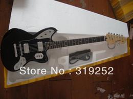 TOP quality Wholesale F jazz master JAGUAR Black Electric Guitar In stock
