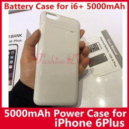 Wholesale Portable mAh External Battery Case Backup Charger for iPhone6 Plus Power Bank Case Pack Case for iPhone s Plus In Stock UPS Freeship