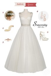 Promotion manches longues boutons robe backless de mariage Robe de mariée en mousseline de soie blanche