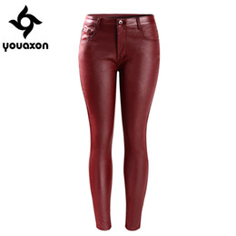 Dark red jeans women&39s skinny – Global fashion jeans collection