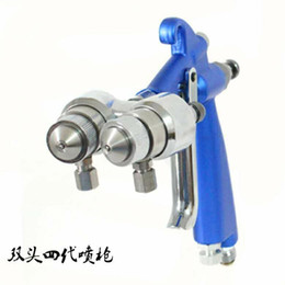 Wholesale Two component spray gun Competitive price and best service dual head spray gun for Silver mirror and nano painting