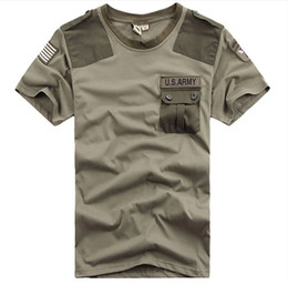 Wholesale New Brand Free Knight Outdoor U S Army Men s Short Sleeve T Shirt Airborne Tee Shirts Summer Cotton Tops High Quality M XXXL